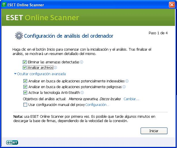 Eset Online Scanner contra virus