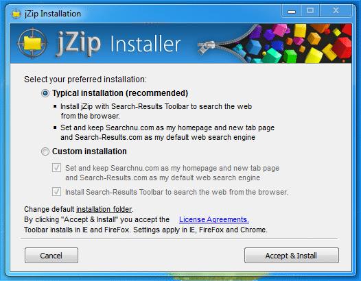 JZip barra de herramientas malware