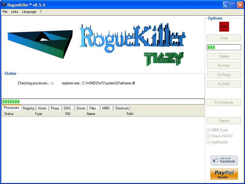 RogueKiller prescan analisis de malware