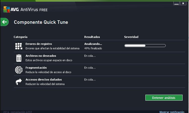 Complemento Quck tune de AVG Antivirus