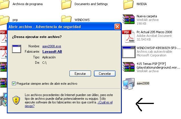 Archivos ejecutables y comprimidos en ZIP