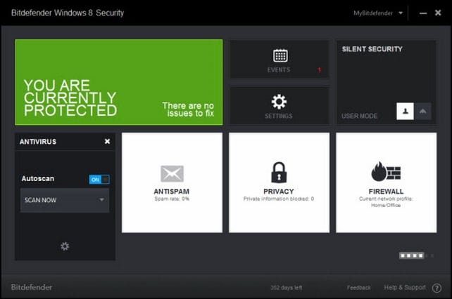 Bitdefender Antivirus en Windows 8