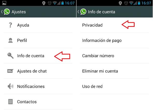 configuracion de privacidad en whatsapp