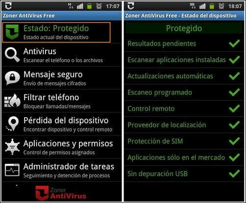 Android Zoner Antivirus